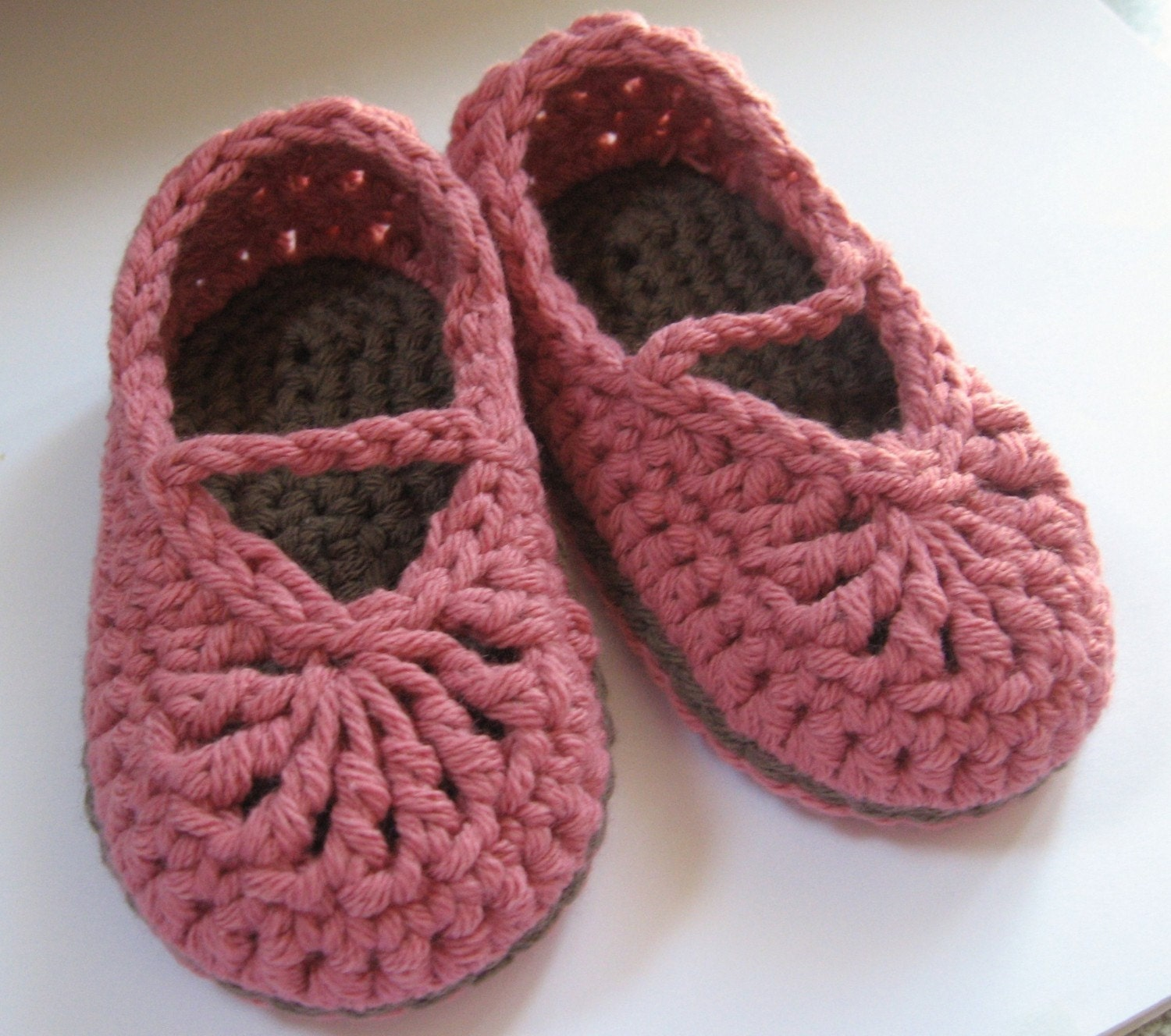Crochet Cotton Baby Booties Pattern : Crochet Cotton Baby Booties Mary Jane Skimmers You choose Size