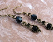 Indigo Vintage Drop Earrings