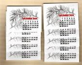 mini calendars\/set of 10