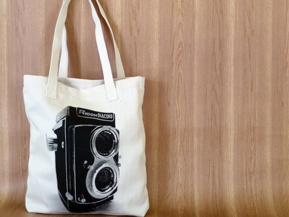 Canvas Tote Bag - Twin Lens On Sale