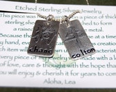 STERLING SILVER Chinese Zodiac Tags-- Mother's Necklace