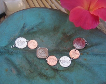 Tropical Bahamas Coin Bracelet