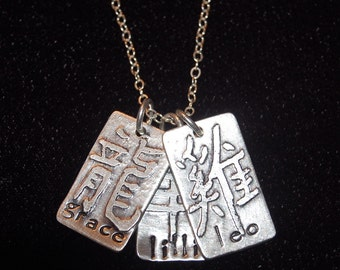 Personalized Sterling Silver Chinese Zodiac Mother's Tag Necklace