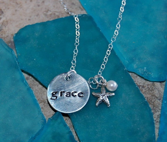 Sterling Silver Children's Name Charm Necklace