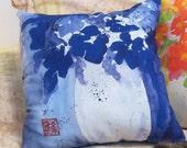 Original Watercolor Fabric Pillow