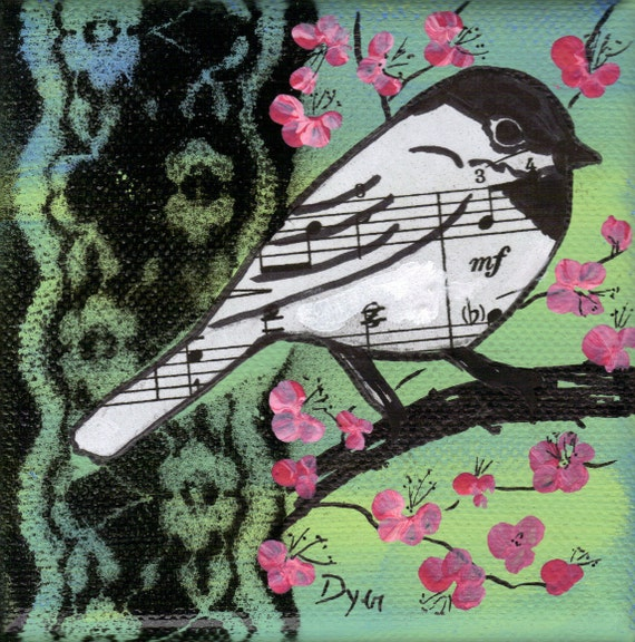 Bird Song Original Mixed Media