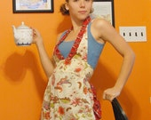 Sassy Salvaged Apron- floral