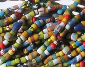 African Recycled Glass Bead Strand