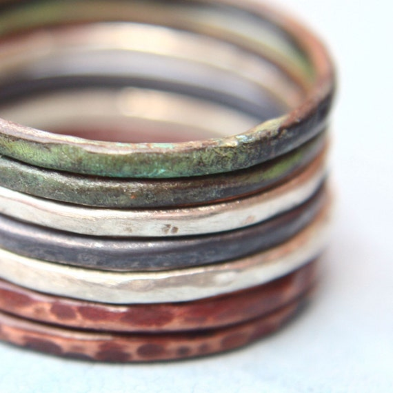 Mix of Colors - Set of Seven Stacking Rings