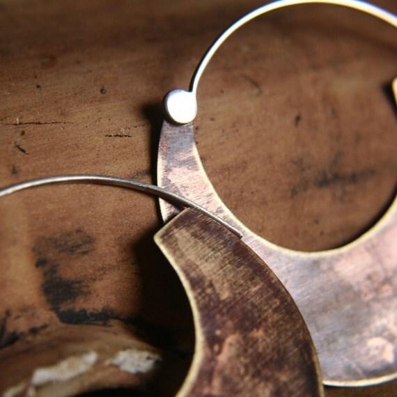 Mokka - Brass and Sterling Silver Earrings