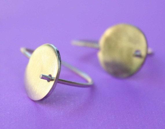 DECEMBER SALE 15% Off Small Sun - Sterling Silver Earrings