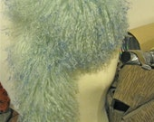 MONGOLIAN RAVE mint green fur scarf