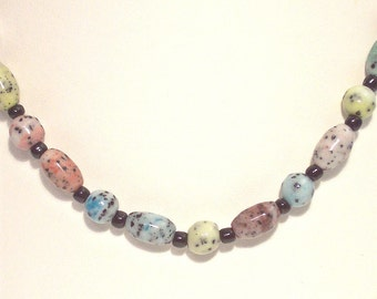 Handmade Multi-Color Speckled Necklace, Bracelet and Earrings Set - was 24.95