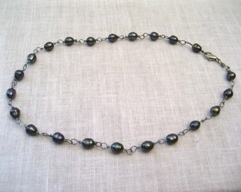 Freshwater Black Rice Pearl Necklace was 35 now 19.99