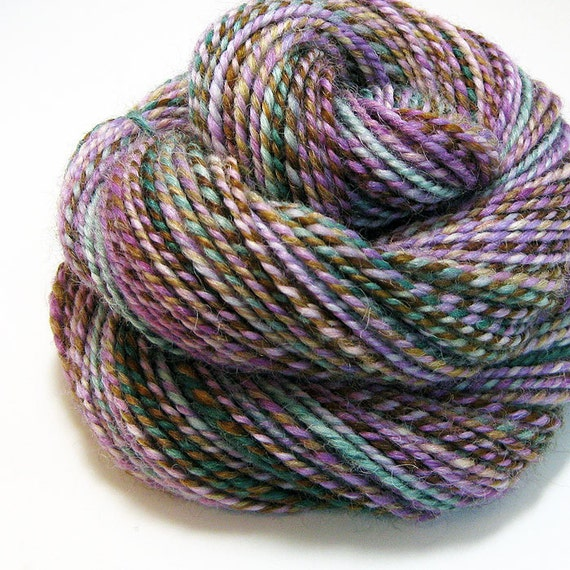 RESERVED for Jessica Bloomberg - Handspun Yarn - Roller Coaster - 110 Yards