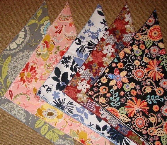 NEW 22 inch square bandanas any gorgeous fabric your choice