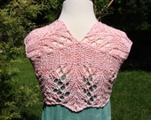 SALE little pink lacy summer shrug