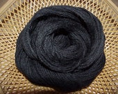Alpaca Natural Black Yarn ( Raven ) 100 yds 91.4 meters