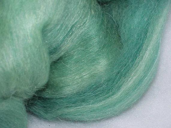 Hand Dyed Alpaca Bamboo Llama Mohair Icelandic Wool Batt (Peace) 2.25 oz