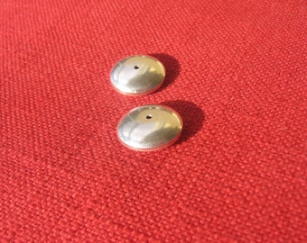 Sterling silver coin large bead.