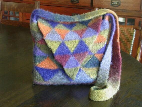 Modular Knitting Patterns : Modular Triangle Bags Knitting Pattern