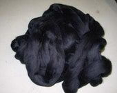 Black Dyed Merino One Pound  21 Micron