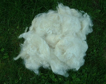 White Washed Kid/Yearling Mohair One Pound