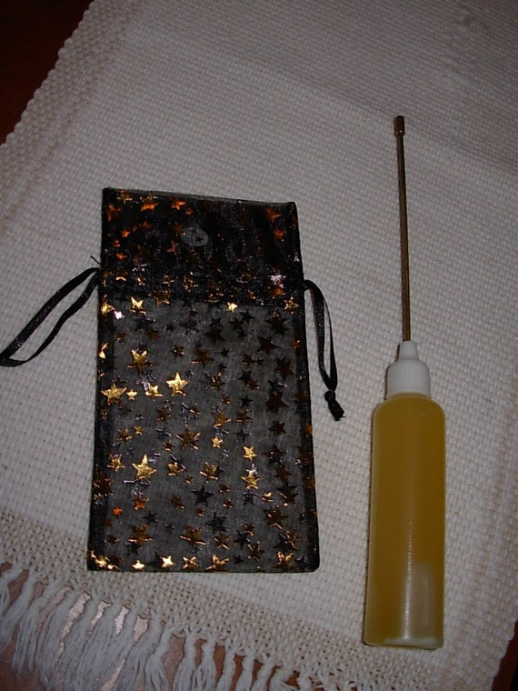 Spinning Wheel Oil Bottle and Bag