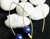 Lapis Simple Earrings