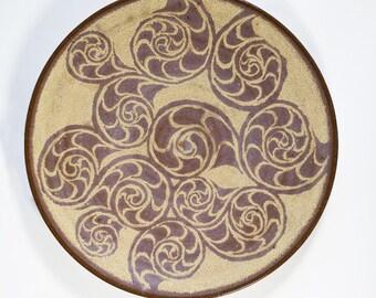 Seashell Pattern Glazed Platter