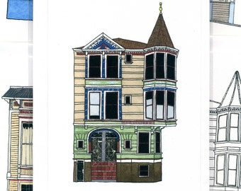 House With Turret, San Francisco - Notecard