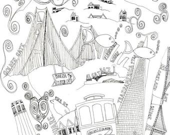 San Francisco - Postcard