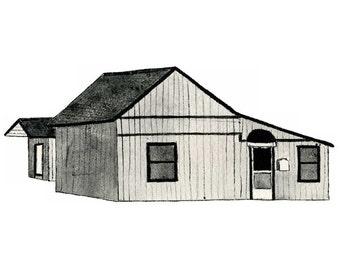 House On Washington Ave, Orange CA. - Postcard