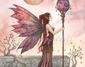 Fairy Print - Dragon Print - Fine Art Giclee Print - The Golden Dragon