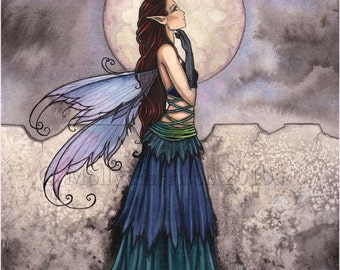 Fairy Fantasy Art Print by Molly Harrison 'Wondrous'