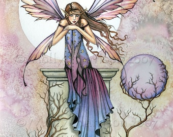 Fairy Art - Fine Art Fantasy Print by Molly Harrison 12 x 16  'A Place to Think'