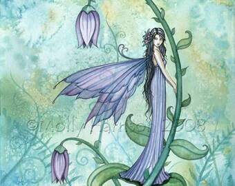 Fairy Fine Art Fantasy Print by Molly Harrison 12 x 16  'Morning Bell'