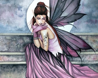 Hiding - Fairy Art Print - Archival Giclee - Watercolor Fairy Fantasy Artwork by Molly Harrison