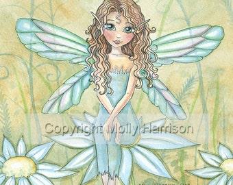 Flower Fairy Fantasy Fine Art Print by Molly Harrison 'Carly.........' 9 x 12 Giclee