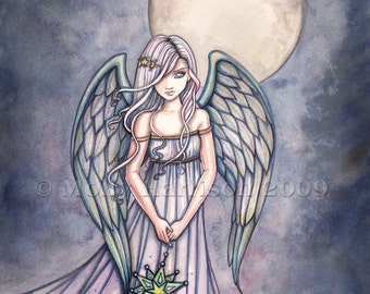 The Gift Original Angel Fine Art Giclee PRINT by Molly Harrison Fantasy Art