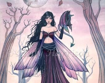 Fairy Dragon Art - Fairy Print Dragon Print Little Beast 5 x 7