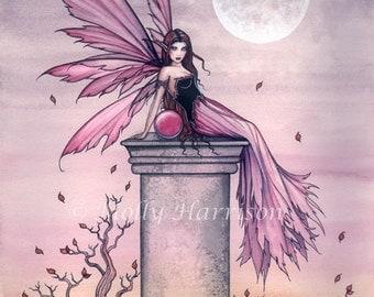 Fairy Print -   Autumn Amethyst Fairy Art Print 9 x 12 Archival Giclee Print by Molly Harrison