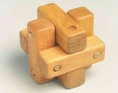 Rubes Cube Puzzle .. Handcrafted Wooden Brain Teaser Toy