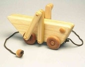 Wooden Handcrafted Grasshopper Pull Toy