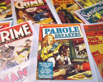 Mysteries and Crime - Noir - Classic Comic Images - Pack of 12