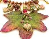 Medeine - Goddess of Trees Necklace - Stunning Maple Leaf Pendant