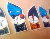 5 mini gnomes iron transfers - patches FREE SHIPPING