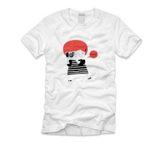 The ginger photographer tshirt SIZE: M