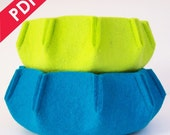 Sewing Pattern PDF - URCHIN 3mm Wool Felt Nesting Bowl Set