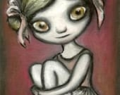 Ballet pixie - fantasy lowbrow fairy art print by Tanya Bond